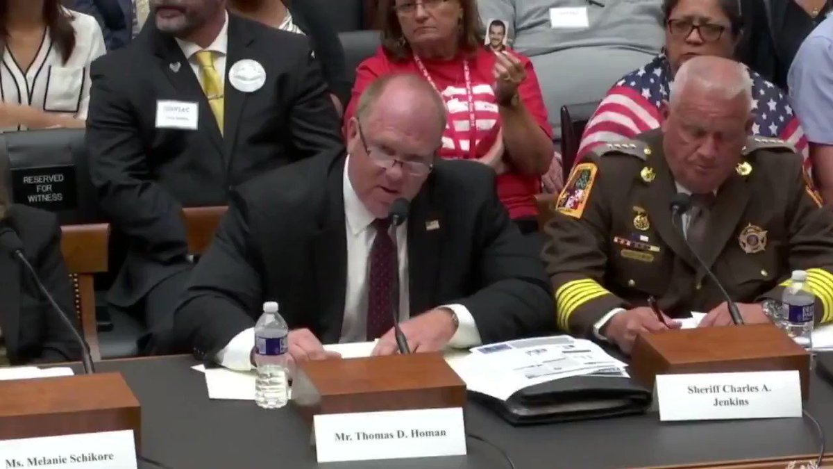 """Former @ICEgov Dir. Tom Homan shows no respect to @RepJayapal during a House hearing today after going over his time, shouting out, """"I'm a taxpayer, you work for me!"""" https://t.co/kVK2VlWinG"""