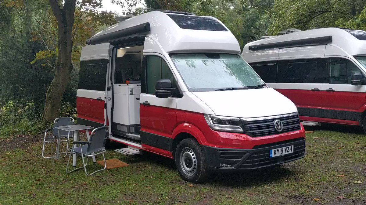 Good morning from a wet and rainy @CaffandMac - where we've just camped out for the evening in the new Volkswagen Grand California. Here's a brief tour... @VWCV_UK_Media