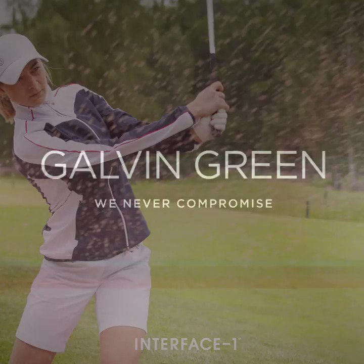 INTERFACE-1™ are our most versatile jackets. Since theyre totally windproof and water repellent but still highly breathable and stretchy, its the jacket to wear 95 out of 100 rounds. Check out the stylish ladies INTERFACE™ range. #galvingreen
