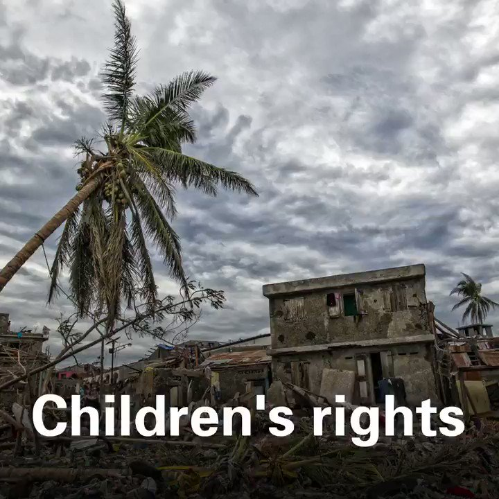 The right to survive. The right to family. The right to health. The right to education. The right to safety. The right to play. The right to culture. Climate change is a serious threat to children's rights. We must take #ClimateAction now. #COP25 #HumanRightsDay