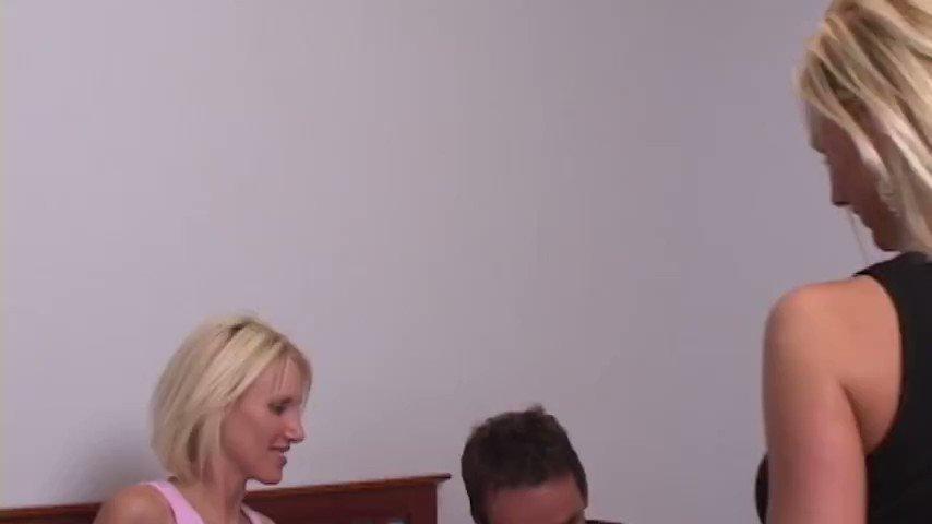Swinger wife fucks three guys