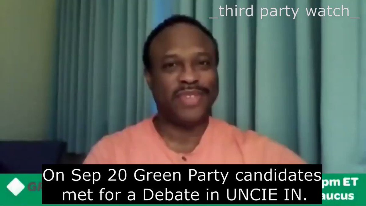 (PART 1/3) #WhatIKnow5Words Are duopoly debates even debates?  The @GreenPartyUS held a presidential debate in Indiana.  Organized by the @GPUSBlackCaucus the debate centered on issues concerning POC    #MondayMotivation #MondayMorning #mondaythoughts Good Monday @IndGreenParty