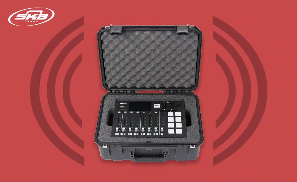 Take your show on the road with the RODECaster Pro Podcast Mixer in the all-new SKB 3i1813-7-RCP case. bit.ly/2TqAaFc #InternationalPodcastDay