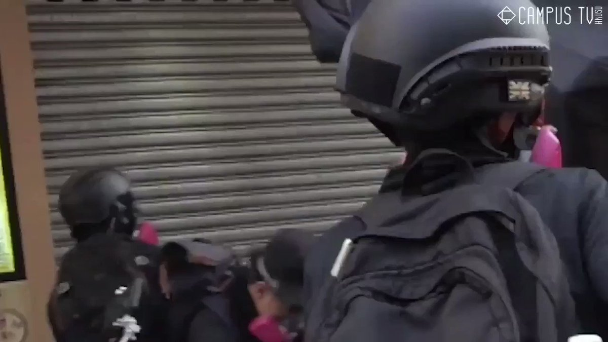 School age protestors shot with live round during protests against Chinese repression. Brave work by whomever is behind this footage #China70years Plse support @HongKongFP
