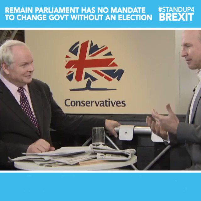 """""""They want to have a change of government without an election... """"Every coup from Bonaparte onwards maintains the outward form of having some parliamentary vote to endorse it. The reality is, we are talking here about democracy Dodgers."""" @DanielJHannan #CPC19 #StandUp4Brexit"""