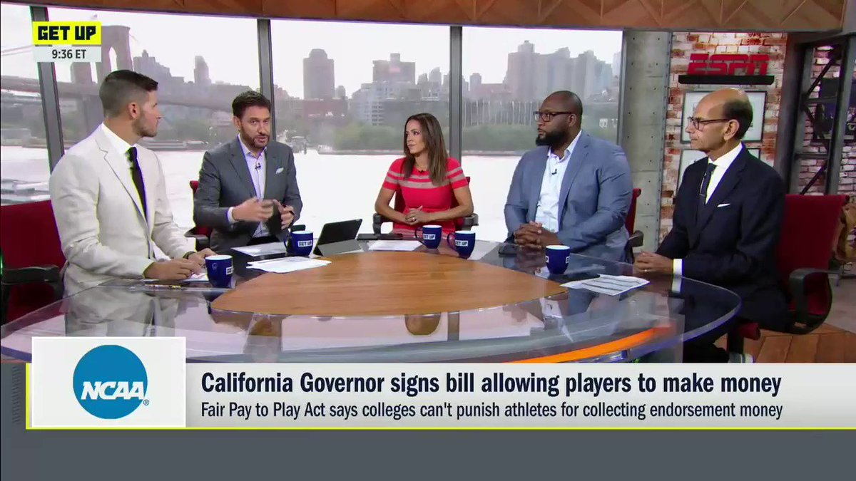 .@elleduncanESPN likes the idea of college athletes who may not make it professionally earning money while theyre in school.