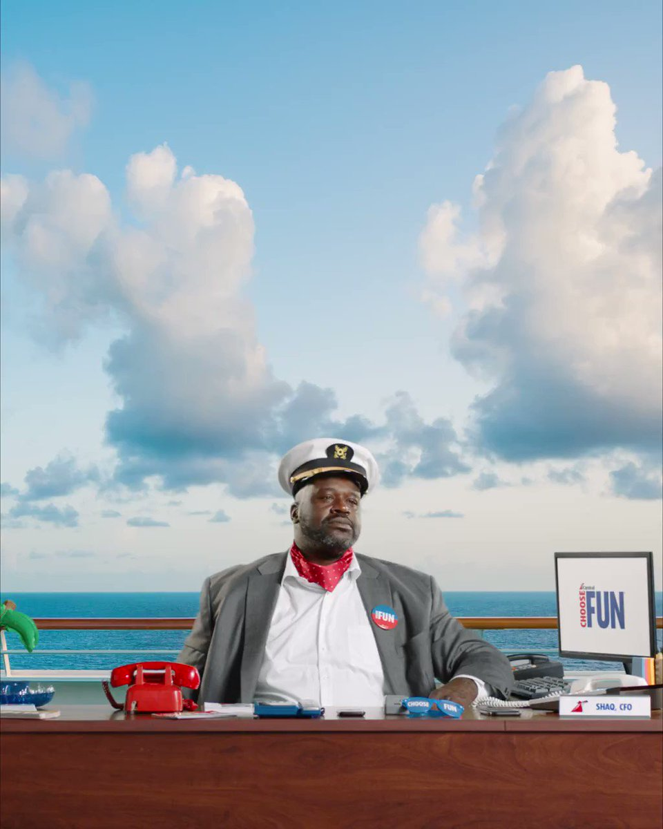 Since @CarnivalCruise made me CFO, everyone has been hitting me up about cruise deals. If you want to get an exclusive offer, email me at Shaq@carnival.com. #sponsored #ChooseFun #CarnivalCruiseLine Oh yeah, and I need that email by 10/24/19