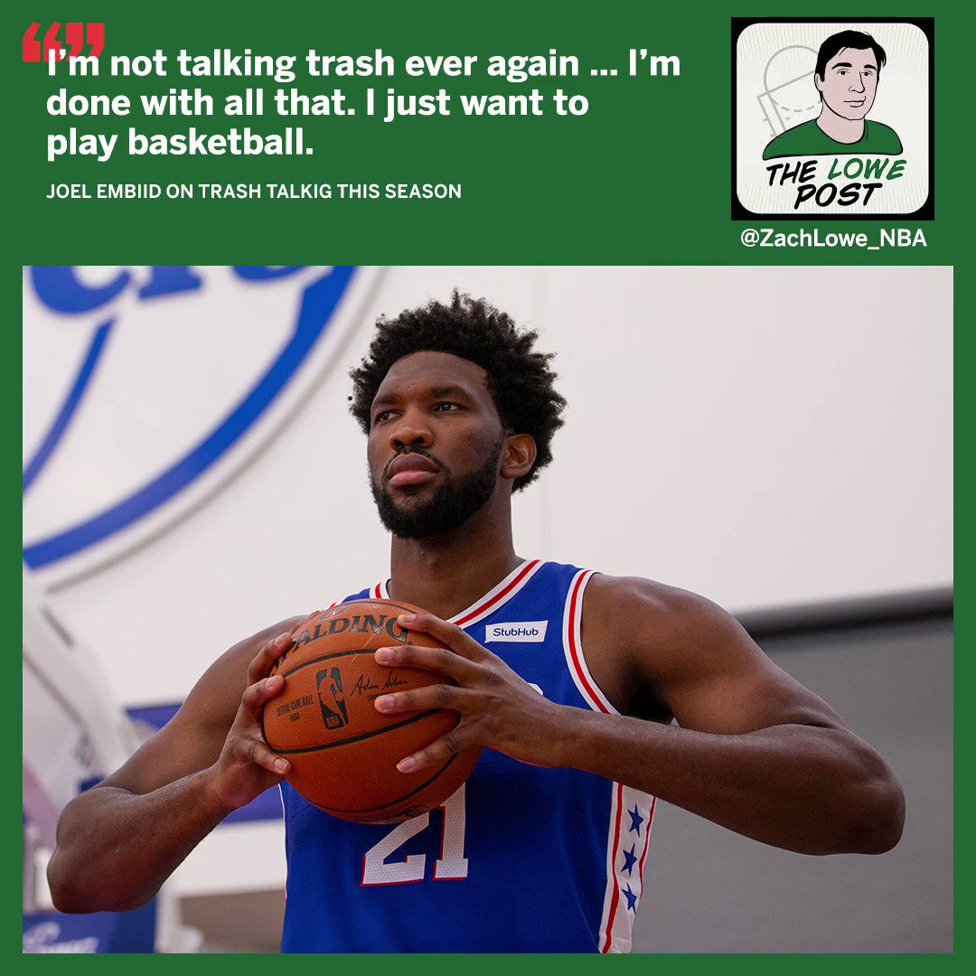 Excerpt from yesterdays Lowe Post podcast with Joel Embiid (full episode here: es.pn/2oE2HND)