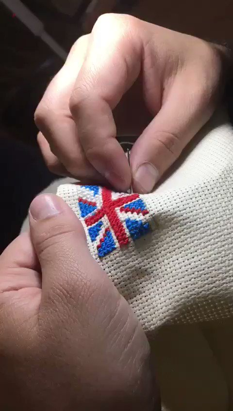 Traditional #Palestinian #embroidery made by me here in the #UK to express my gratitude to the #British people and @cheveningfco as well as @UKinJerusalem for supporting Palestinian sscholars