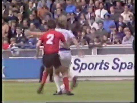 The Glenn Roeder shuffle! He sets up Clive Allen to score for QPR v Blackburn in 1981 #QPR @QPRReport @qprnet