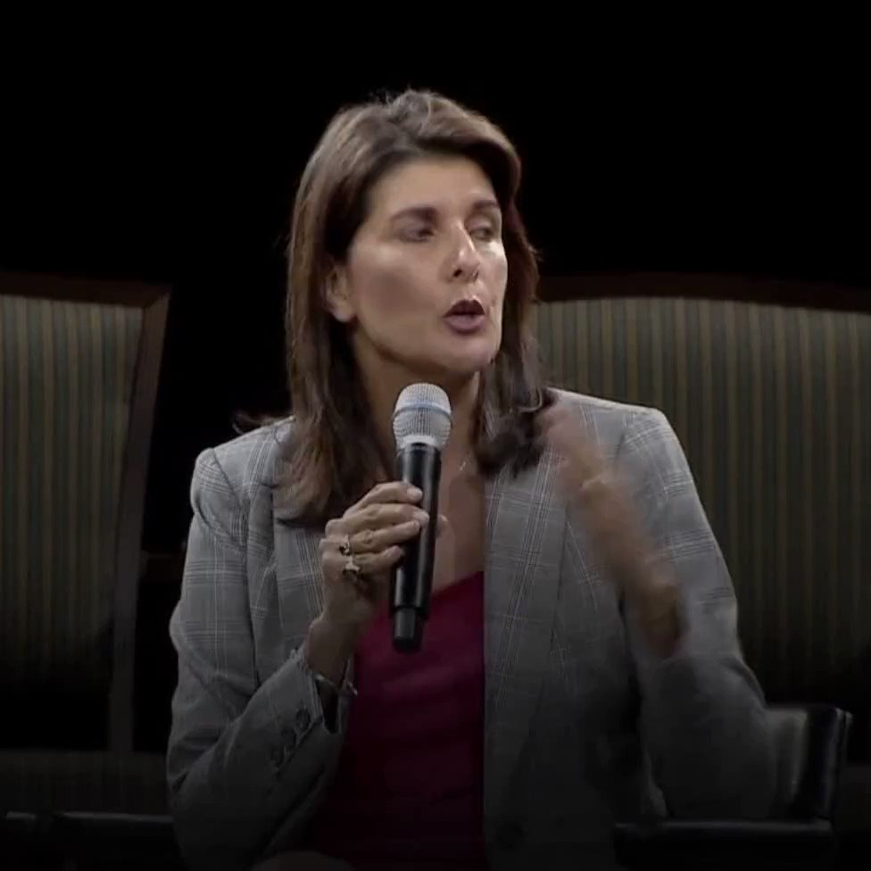 .@NikkiHaley encourages college students to hear from all sides, not to shout down people who think differently. WATCH: