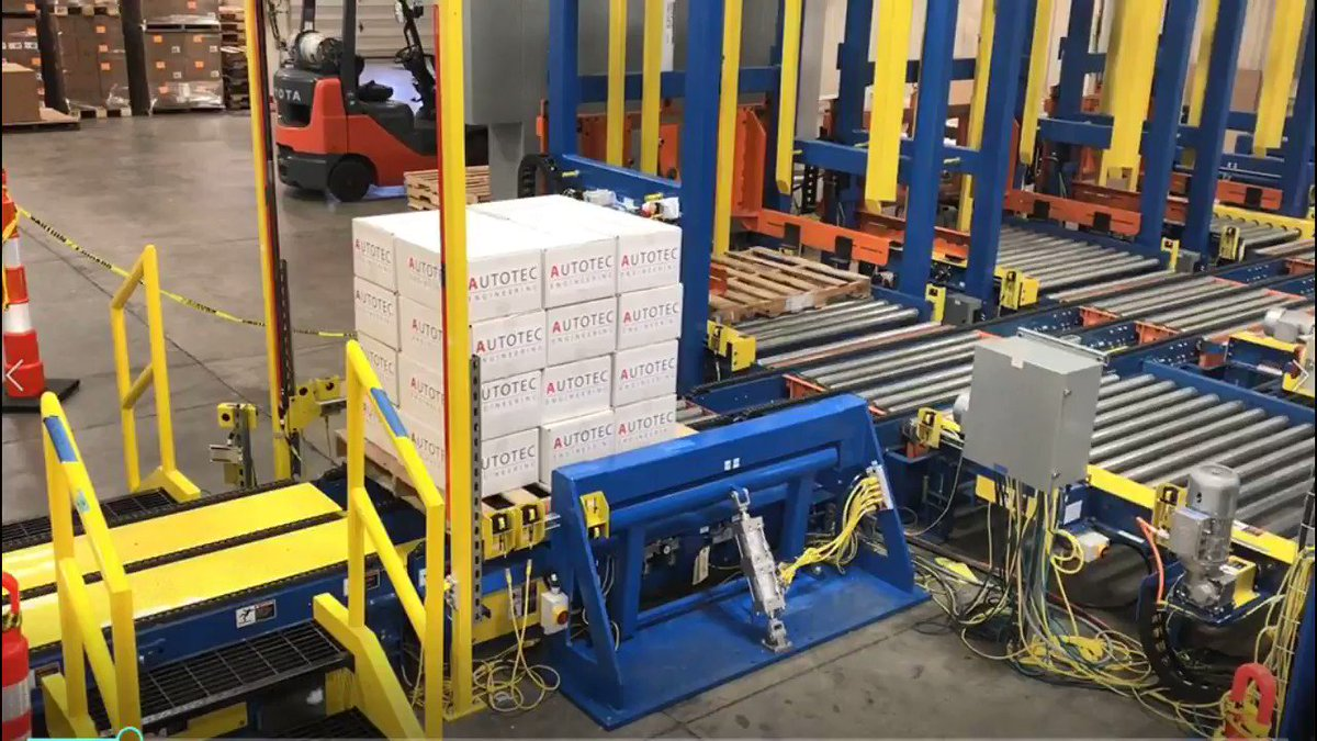 Image for the Tweet beginning: Pallet Stretch Wrapping: Usually the