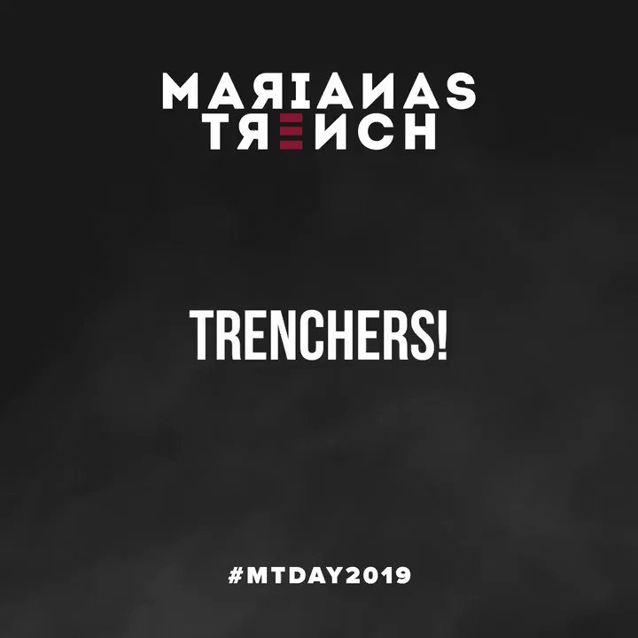 Trenchers! Tomorrow is #MTDay2019 stay tuned 😜