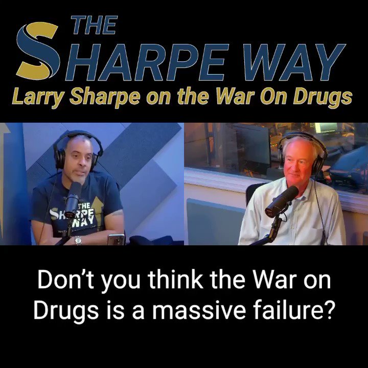 """Lincoln Chafee: """"Don't you think the War On Drugs is a massive failure?"""" Larry Sharpe: """"100%...I would just end it IMMEDIATELY in the United States."""" •Full conversation YouTube link:  #sharpeway #larrysharpe #libertarian #WarOnDrugs #marijuana #cannabis"""