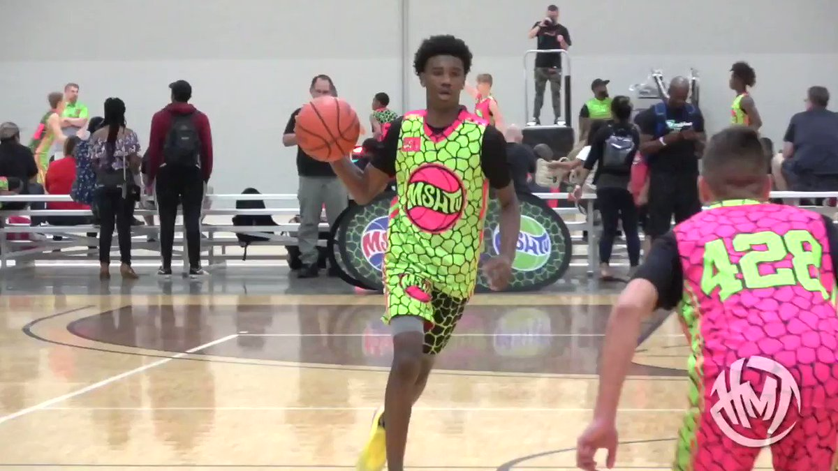 Here is 2023 PG Jaylen Curry GOING OFF at the @MSHTVCamp this past weekend. #hoopmixtape