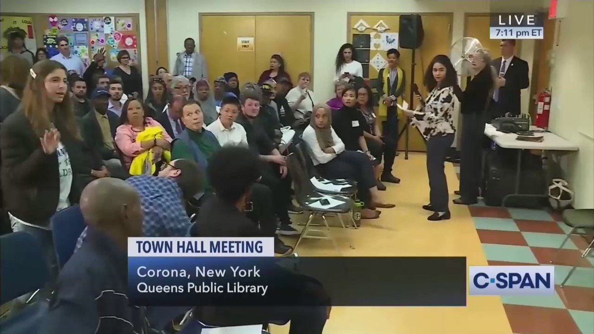 """One of Ocasio-Cortez's constituents loses her mind over climate change during AOC's townhall, claims we only have a few months left: """"We got to start eating babies! We don't have enough time! ...  We have to get rid of the babies! ... We need to eat the babies!"""" https://t.co/uVmOnboluI"""