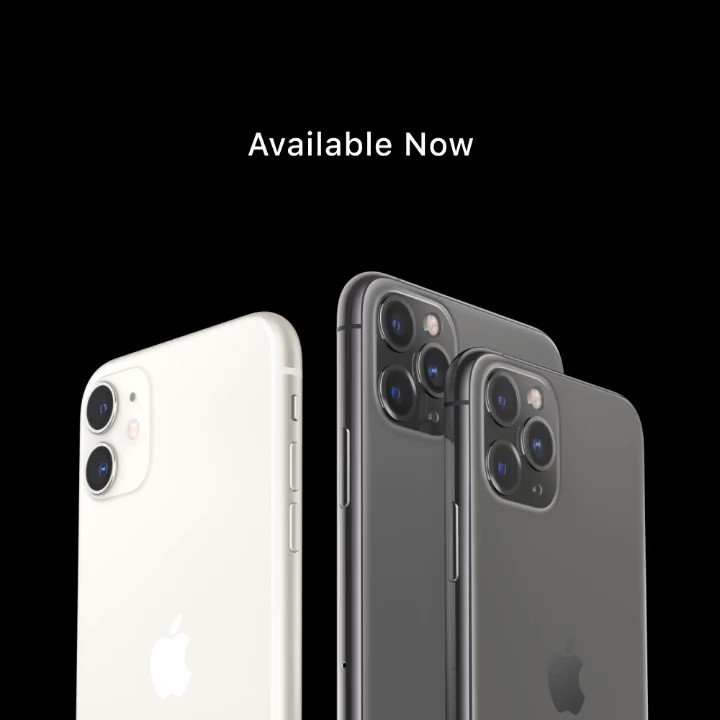 Hello, all new iPhone. Available now at an Apple authorized reseller near you. iPhone11 iPhone11Pro https t