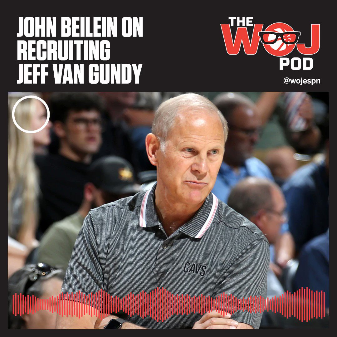 Full audio of Cavaliers coach John Beilein on The Woj Pod: apple.co/2SlLzr0