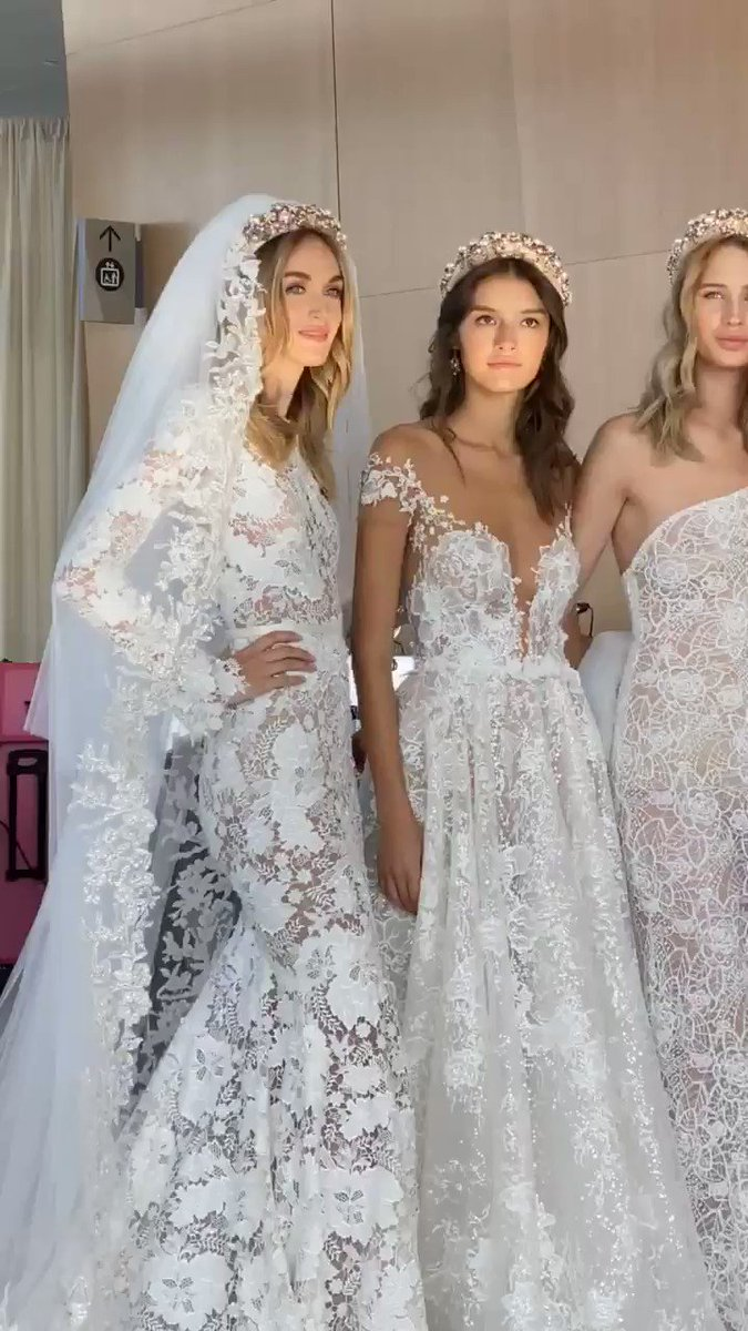 Backstage at Berta bridal F/W 2020 #NYBFW
