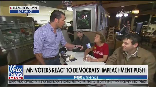Minnesota voter: We absolutely need USMCA. It really makes me angry that Congress is not doing their job. Instead, theyre off on this terrible trial to dismantle America.... Were sticking with the President all the way... The President has kept everyone of his promises.