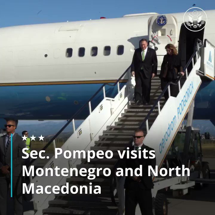 Wrapping up my first visit to both Montenegro and North Macedonia today. The United States will continue to support their respective efforts to advance stability, security, and prosperity throughout the region.