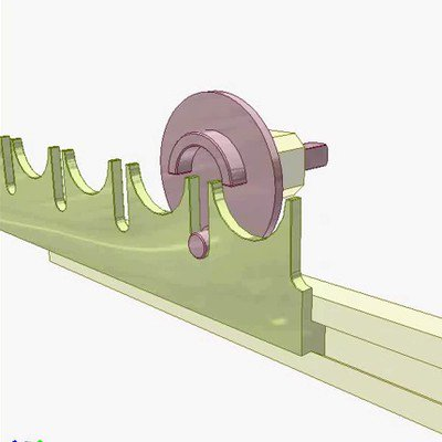 Rack--Pinwheel Drive