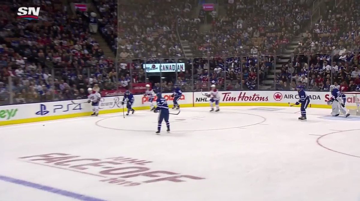 The camera man who captured this hilarious chirp from Montreal Canadien Max Domi deserves a pay raise