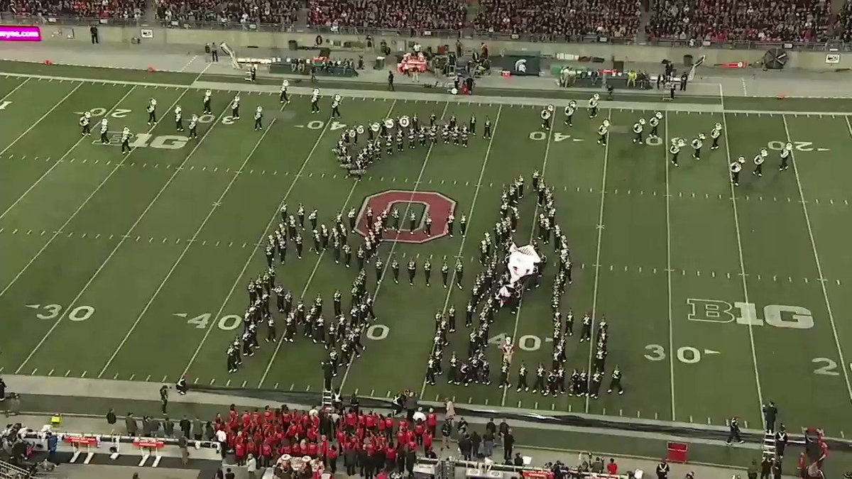 .@OhioStates band gave us a quick history lesson 🚀🌑
