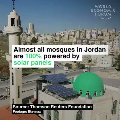 Almost every mosque in Jordan is now 100% renewable - producing more energy than they use and schools are following their lead We have the solutions, implement them. #ActOnClimate #climate #energy #tech #climatestrike #GreenNewDeal @GretaThunberg #SDGs #RenewableEnergy #solar