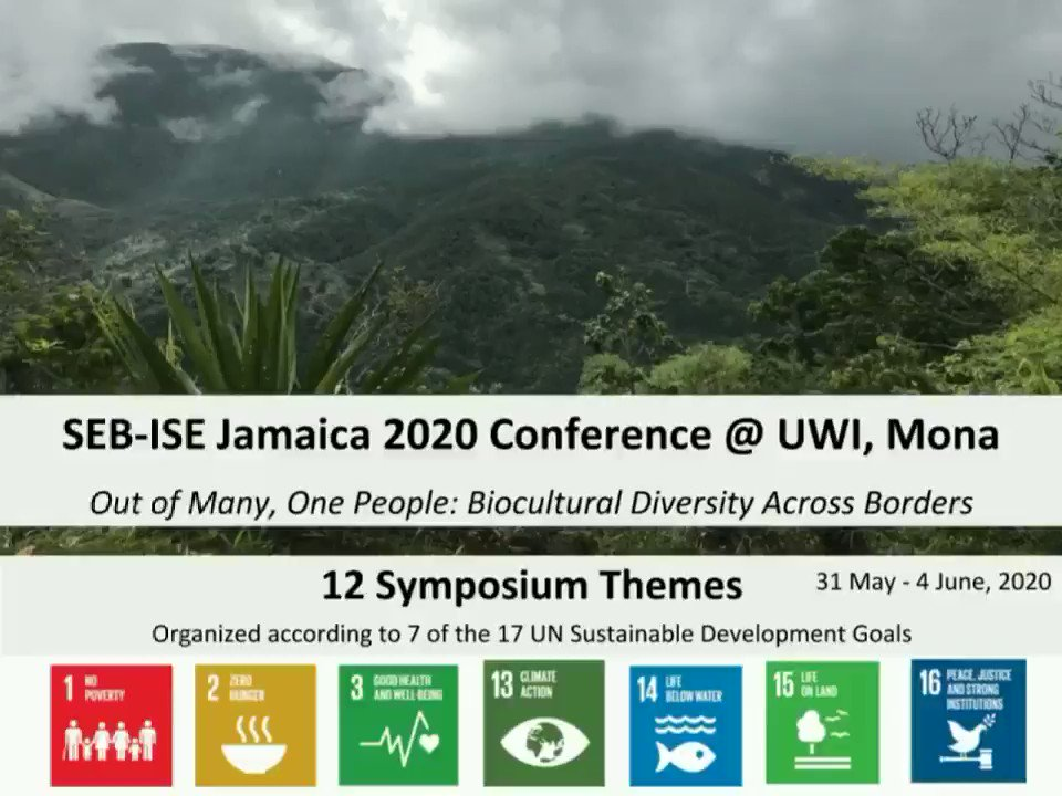 Save the date for the joint conference of the Society for Economic Botany (SEB) and the International Society of Ethnobiology (ISE) in #Jamaica next year (31 May - 4 June, 2020) at The University of the West Indies, Mona Campus, Kingston #Ethnobotany #Ethnobiology