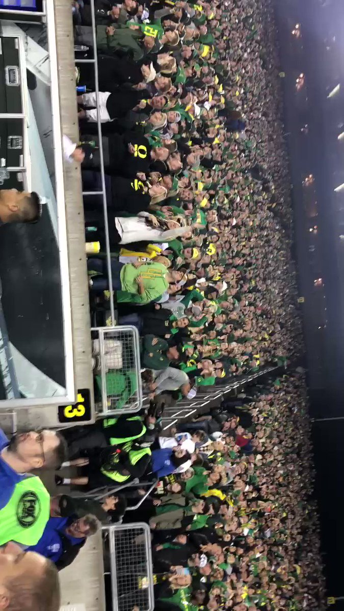 God, I love this job, and this sport. Thanks Autzen, you never disappoint.