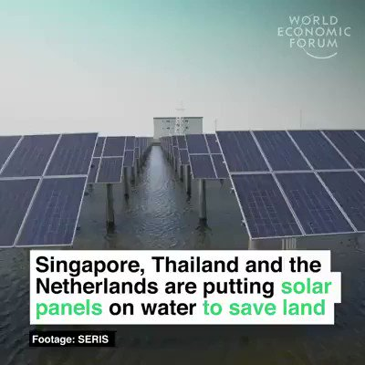 Singapore, Thailand and the Netherlands are putting #solar panels on water to save land space and reduce emissions. We have the solutions, lets implement them. #ActOnClimate #climate #energy #tech #climatestrike #GreenNewDeal @GretaThunberg #SolarPower #solarenergy