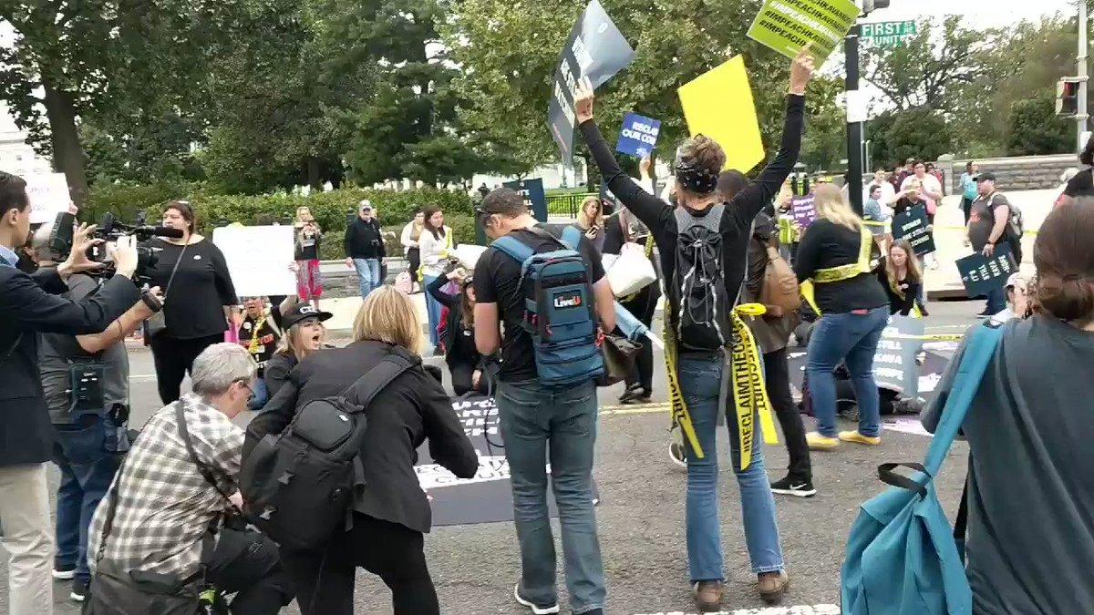 Anti-Kavanaugh Protesters Tell Accuser Julie Swetnick, 'We Believe You!'