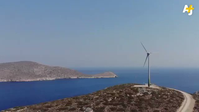 This island is Greece is using #solar and #windpower to kick diesel to the curb and go 100% #renewable. We have the solutions, we have the work force, lets get busy and implement them. #ActOnClimate #climate #energy #tech #climatestrike #GreenNewDeal @GretaThunberg