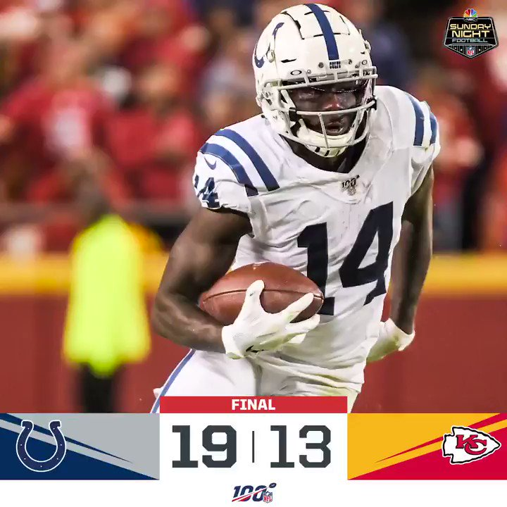 Replying to @NFL: FINAL: @Colts take down the Chiefs! #INDvsKC #Colts  (by @Lexus)