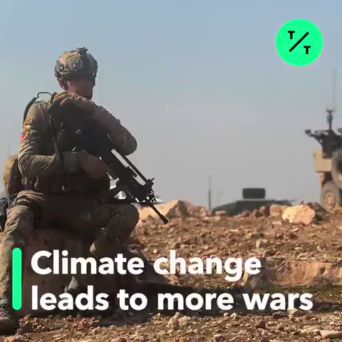 #ClimateChange is leading to more #wars, conflict and #refugee migration: report. There is no time to waste, there is no planet B. #ActOnClimate #climate #energy #tech #climatestrike #GreenNewDeal #go100re @GretaThunberg