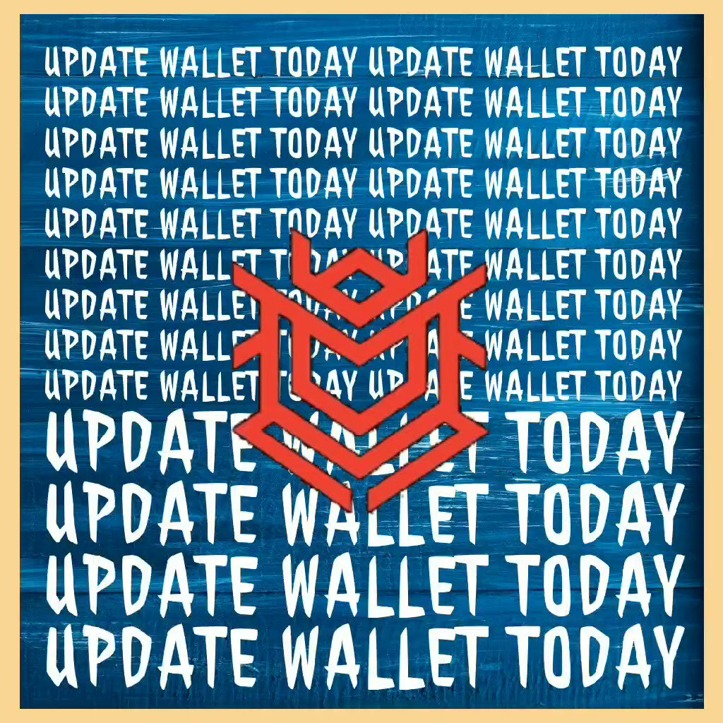 Image for the Tweet beginning: Please update your wallets to