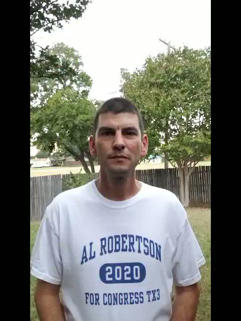 THIS IS THE FACE OF THE NEW CANDIDATE FOR 2020! @AlRobertsonTX03 is a lifelong Texan, a Navy Vet, a family man and a #Resister. Hes leading the way to unseat millionaire incumbents who are out of sync with their constituents #TX03 Donate here: secure.actblue.com/donate/al-robe…