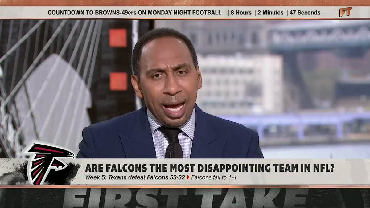 """This is some inexcusable stuff."" — @stephenasmith Cover your ears Falcons Fans."