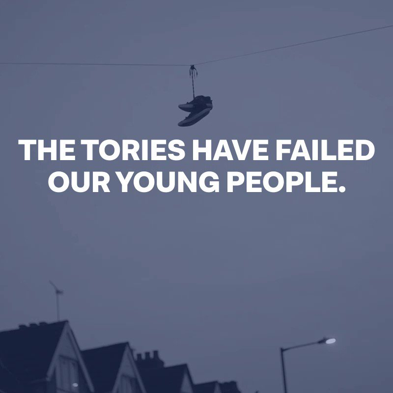 The Tories have slashed £1 billion from youth services. Our young people deserve better than this. Our young people deserve a Labour Government that will invest in them and their future. Agree? 🔁