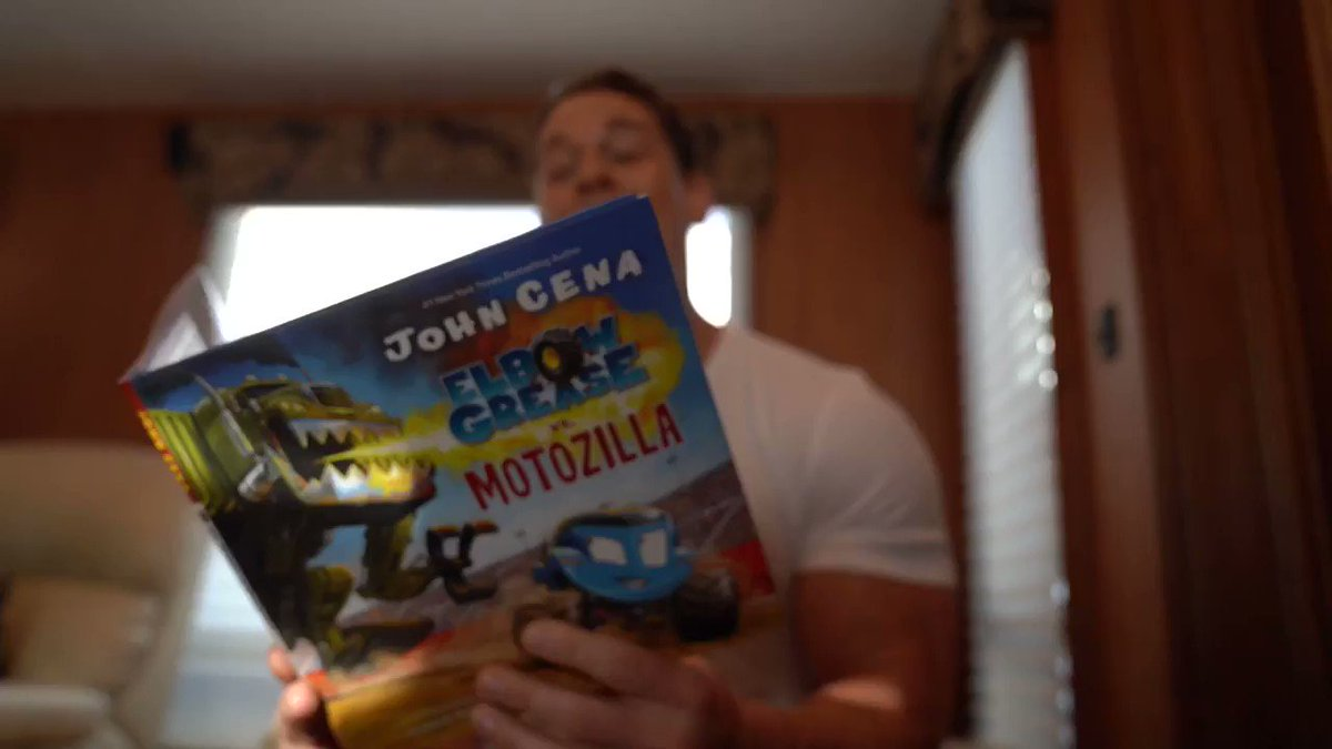 TODAY is the DAY. Beyond excited to bring a new family member into our world for you and your family to enjoy! I #ElbowGrease vs. Motozilla is available in stores and online here: http://ElbowGreaseByCena.com