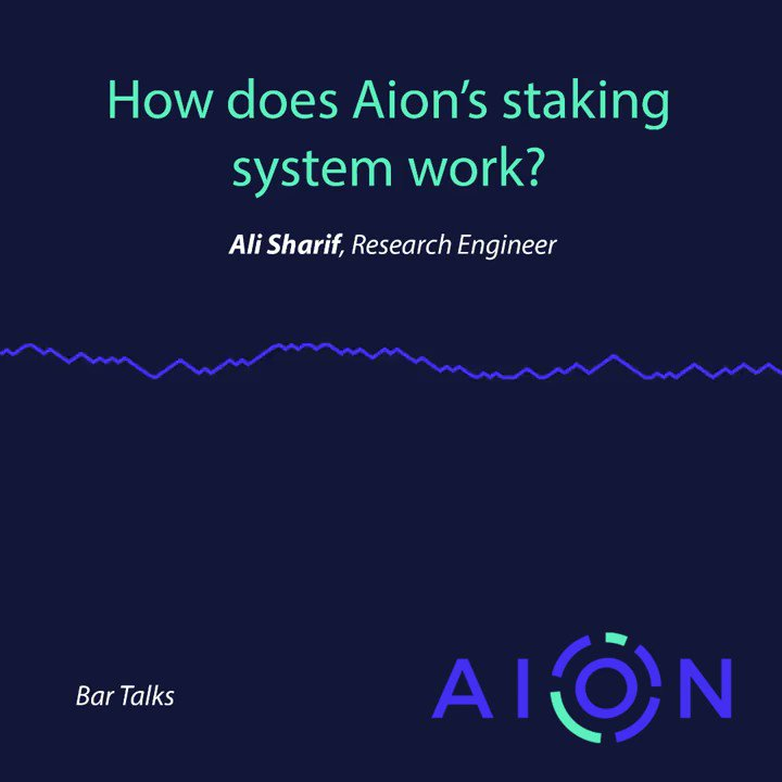 """Image for the Tweet beginning: """"How does $AION staking work?"""""""
