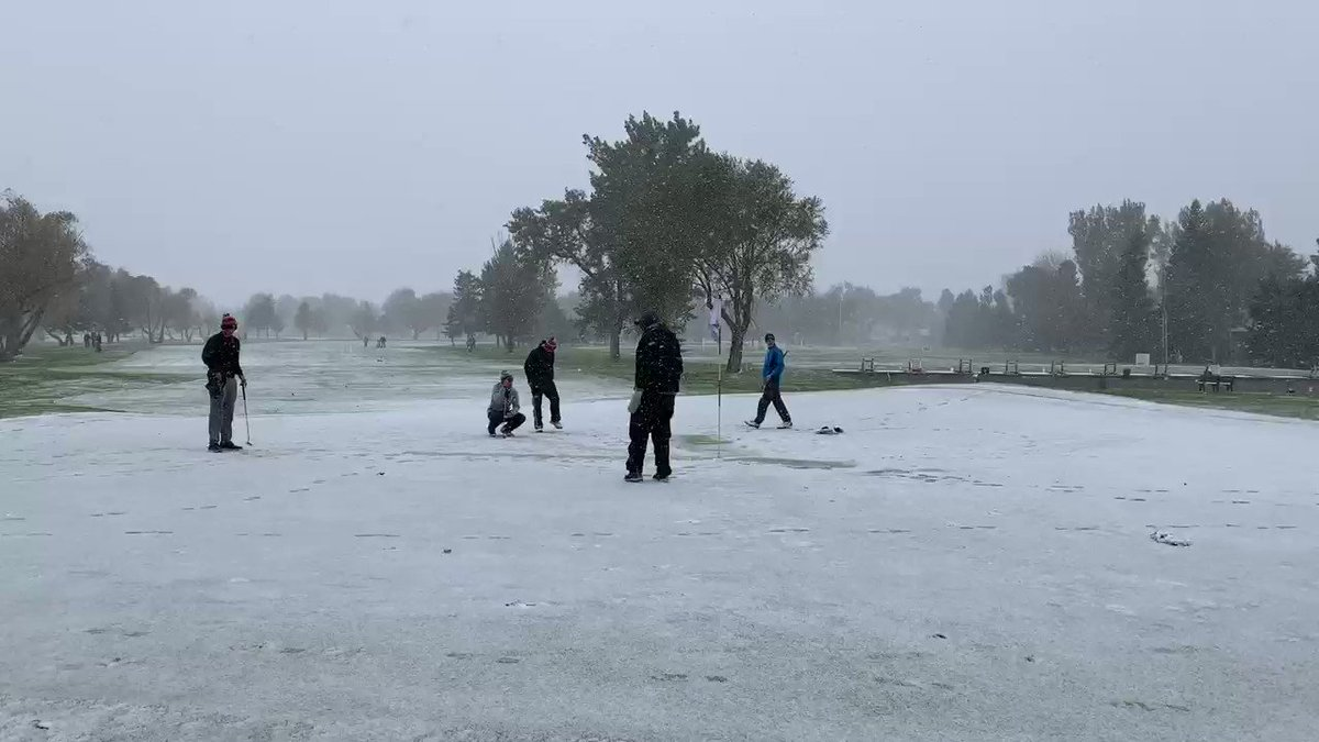 Montana played its golf state championship in snow because they are tougher than you
