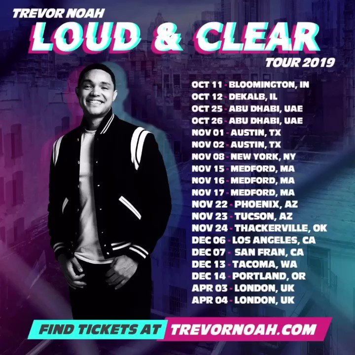 "Just added a 2nd show in Tucson, AZ! You can find tix at http://bit.ly/2VoDGm6  using code ""IsThisThingOn"" 🙌🏾#LoudAndClearTour"