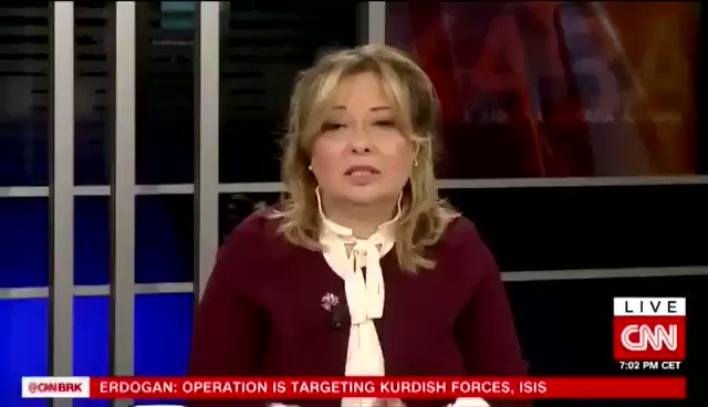 Live on @camanpour @cnni earlier this evening, explaining why #Turkey is undertaking this operation in North East #Syria. and why this operation is not against Syrian Kurds, but against terror groups who are attacking us.  #OperationPeaceSpring  #BarisPinari