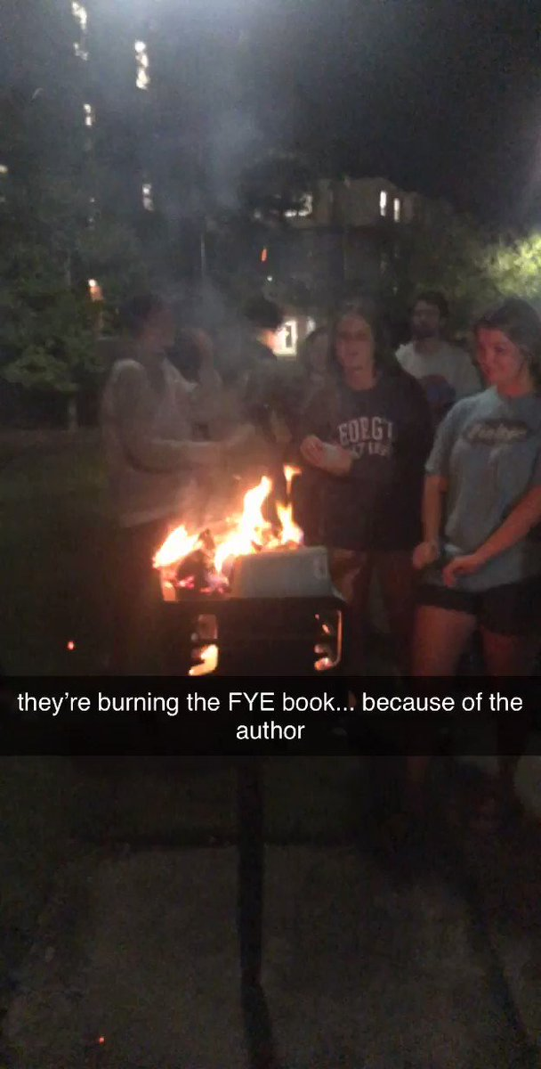 Georgia college students burn Latina author's book after she talked about white privilege