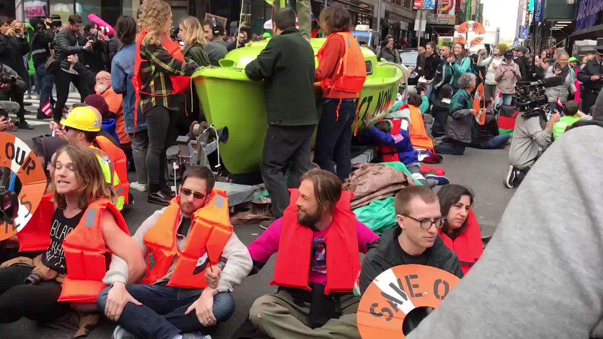 Times Square is shut down. By activists demanding we address the climate emergency right now.