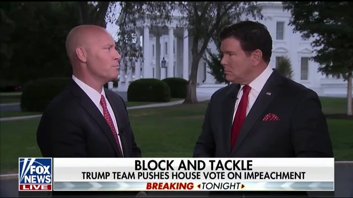 """""""All [Democrats] want to do is pursue one investigation after another and the American people are fed up."""" -Marc Short, Chief of Staff to @VP"""