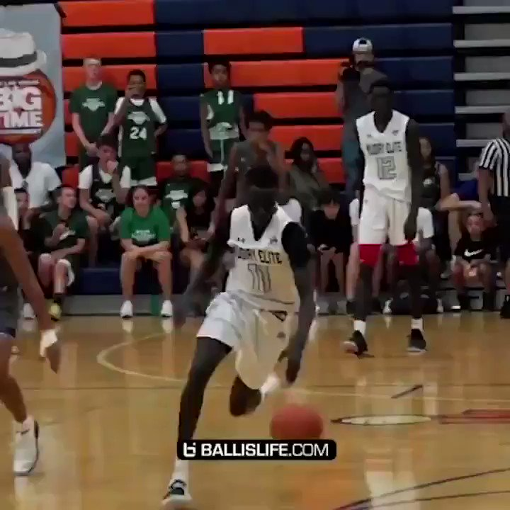 Cant be #SCtop10 Day without this insane Jimma Gatwech dunk 😮 (via @Ballislife)