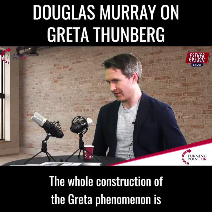 @DouglasKMurray perfectly dismantles the Greta Thunberg phenomenon. Watch his full interview on the Esther Krakue Show where they discuss race, gender, trans, Greta and more here - youtu.be/HDk0CAfdALw
